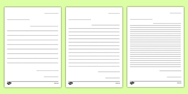 Letter Writing Template  Blank Letter Templates Letter Letter