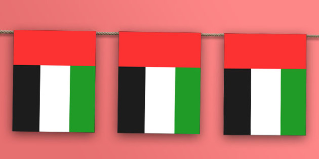 United Arab Emirates Flag Bunting - nation, international, geography, culture, display , middle east, olympics