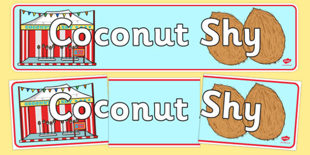 The Coconut Shy Role Play Display Banner-coconut shy, role play, display banner, role play display banner, display, banner, banner for display