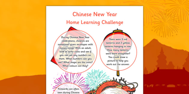 Chinese New Year EYFS Home Learning Nursery FS1 - EYFS planning, early years activities, homework, festival, celebration