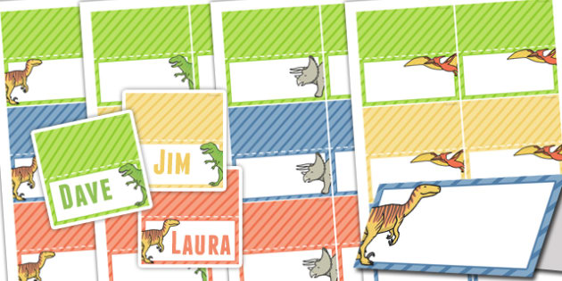 Dinosaur Themed Birthday Party Place Names - birthday party, party