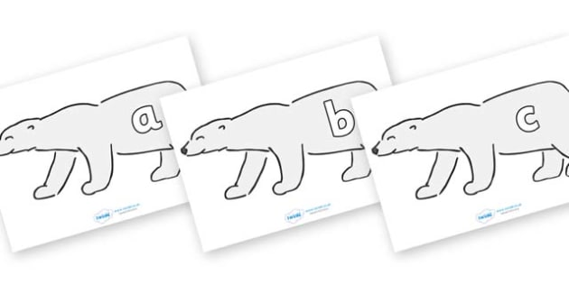 Phase 2 Phonemes on Polar Bears - Phonemes, phoneme, Phase 2, Phase two, Foundation, Literacy, Letters and Sounds, DfES, display