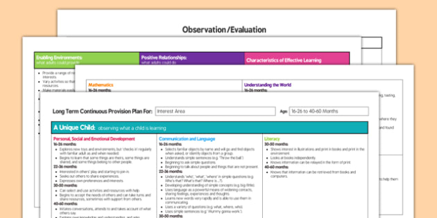 Interest Area Editable Continuous Provision Plan 16-26 to 40-60 Months