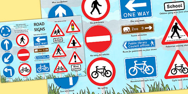 British Road Signs Large Poster - poster, road signs, britain