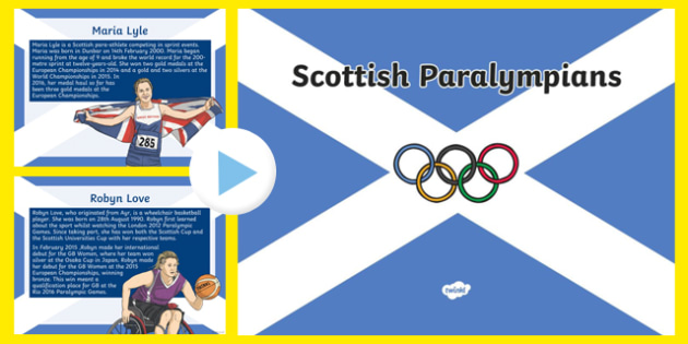 Scottish Paralympians Rio 2016 PowerPoint