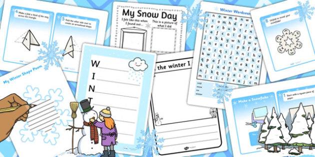 KS2 Snow Writing Pack - ks2, snow, writing pack, write, pack