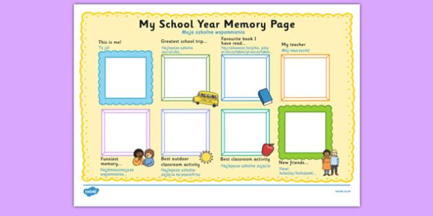 School Year Memory Write Up Polish Translation - polish, school year, memory
