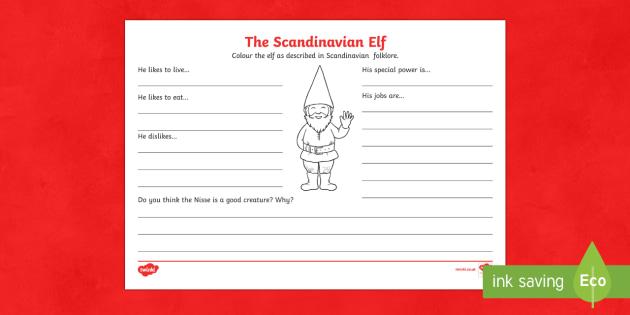 The Scandinavian Elf Activity Sheet-Australia