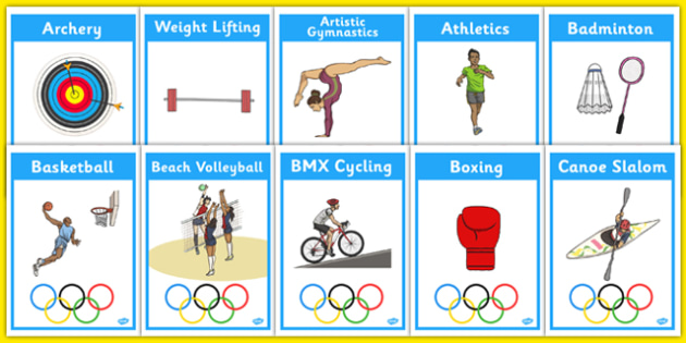 The Olympics Events Equipment Display Posters - Olympics, Olympic Games, sports, Olympic, London, 2012, display, banner, poster, sign, event, equipment, Olympic torch, flag, countries, medal, Olympic Rings, mascots, flame, compete, tennis, athlete, s