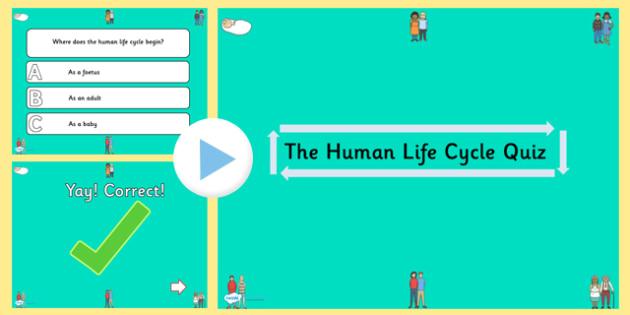 Human Life Cycle PowerPoint Quiz - KS1 Science Quiz