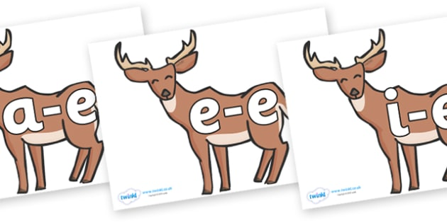 Modifying E Letters on Deer - Modifying E, letters, modify, Phase 5, Phase five, alternative spellings for phonemes, DfES letters and Sounds