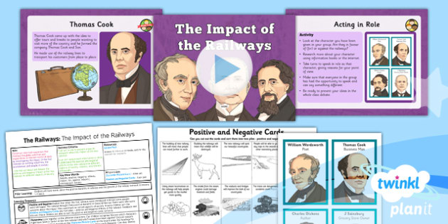 History: The Railways: The Impact of the Railways LKS2 Lesson Pack 5