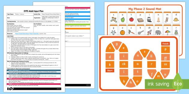 Phase 2 Sounds Board Game Adult Input Plan and Resource Pack - phases