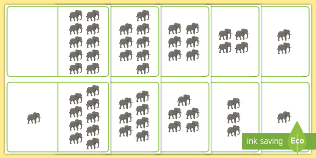 Elephant Counting Number Bonds to 10 - number bonds, counting