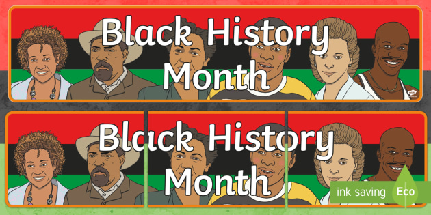 Black History Month in Canada Display Banner - Black History Month, Canada, civil rights, social studies, display.