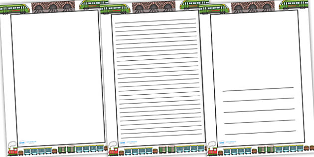 Train Themed Page Borders - border, page border, a4 border, template, train