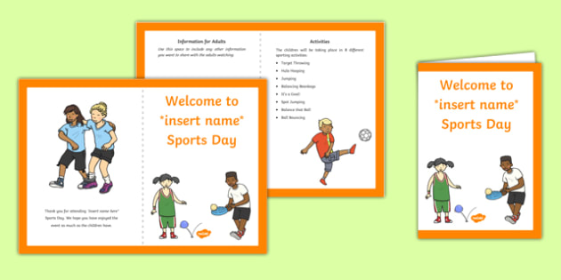 EYFS Multi Skills Sports Day Parents Leaflet Parents Leaflet
