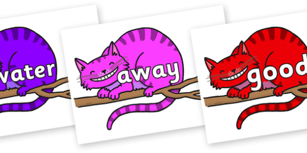 Next 200 Common Words on Cheshire Cats - Next 200 Common Words on  - DfES Letters and Sounds, Letters and Sounds, Letters and sounds words, Common words, 200 common words