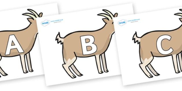 A-Z Alphabet on Goats - A-Z, A4, display, Alphabet frieze, Display letters, Letter posters, A-Z letters, Alphabet flashcards