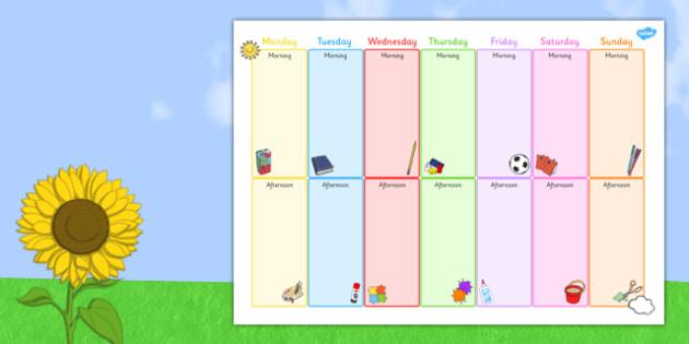 Summer Holiday Activity Template - summer, holiday, activity