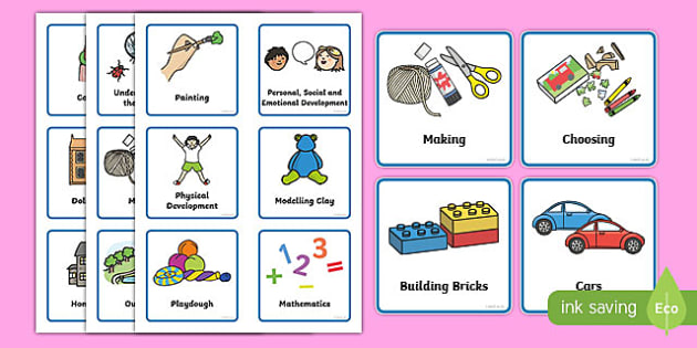Nursery / Foundation Stage 1 Visual Timetable - Daily Routine