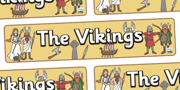 Vikings Display Banner - Vikings, England, display, poster, history, longboat, Scandinavian, banner, sign, explorers, Viking Age, longship, Norse, Norway, Wessex, Danelaw, York, thatched house, shield