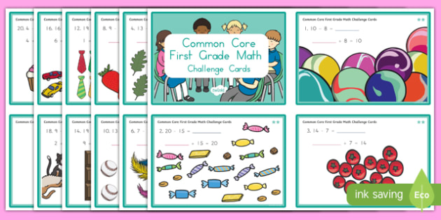 Common Core First Grade Math OA 4 Task Challenge Cards