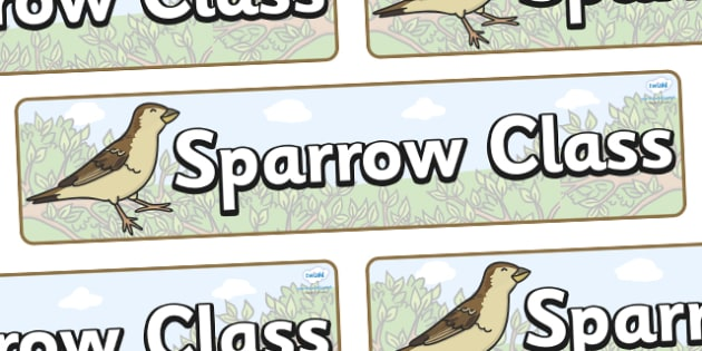 Sparrow Themed Classroom Display Banner - Themed banner, banner, display banner, Classroom labels, Area labels, Poster, Display, Areas