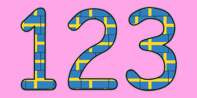 Swedish Display Numbers Flag - swedish, display, numbers, flag