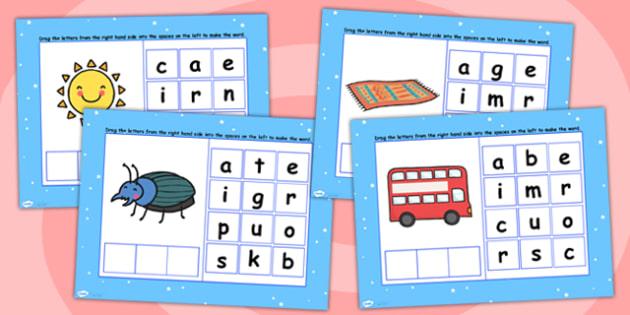 CVC Words U Spelling Flipchart - CVC words, spellings, flipchart
