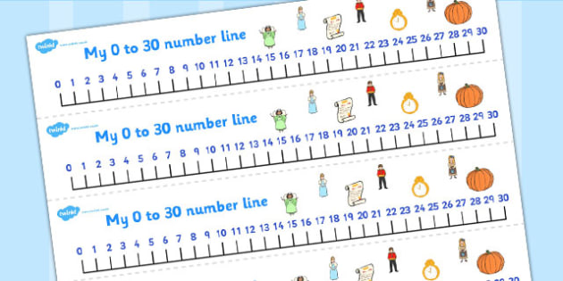 Cinderella Number Lines 0-30 - cinderella, number lines, 0-30