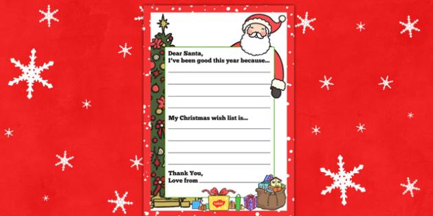 My Christmas Wish Letter To Santa - christmas wish, letter to, santa, father christmas, christmas