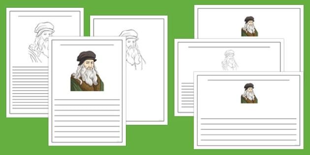 Leonardo da Vinci Writing Frames