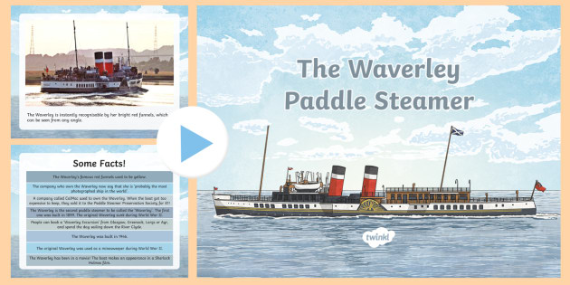 The Waverley Paddle Steamer PowerPoint-Scottish - Scottish Cities, Glasgow, Doon the Watter, River Clyde, shipbuilding,Scottish