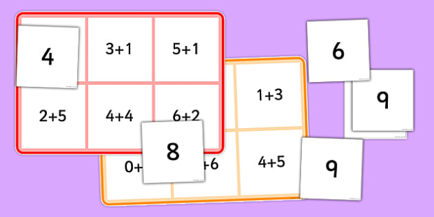 Addition Facts Bingo - addition, facts, bingo, game, activity