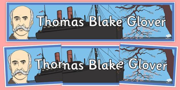 Thomas Blake Glover Display Banner - thomas blake glover, display banner, display, banner