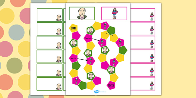 Roald Dahl Themed Editable Board Game - games, board games, game