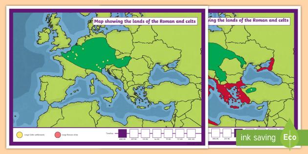 Empire Celts and Romans Display Maps  romans celts maps