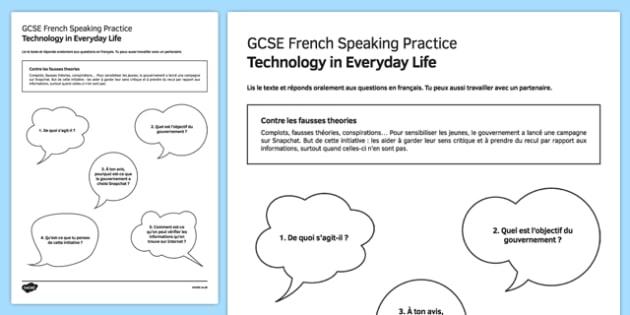 L'information en ligne Speaking Practice Activity Sheet - French, worksheet