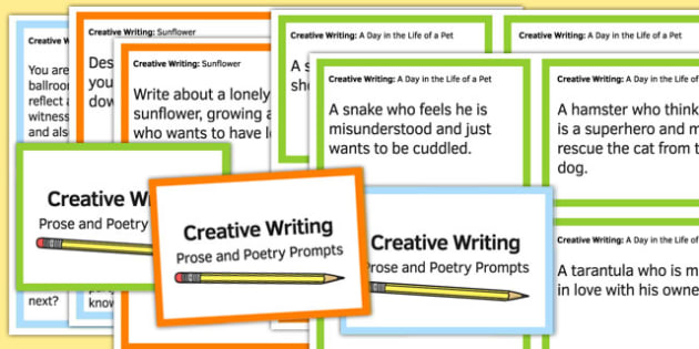 Creative Writing Prompts Challenge Cards - prompts, cards, write