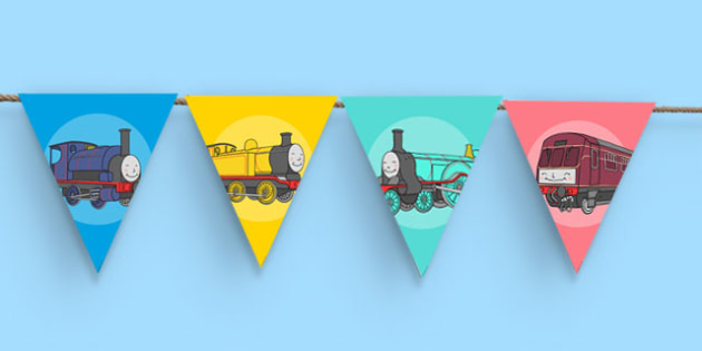 Talking Steam Train Themed Bunting - thomas the tank engine, talking steam train, bunting, display