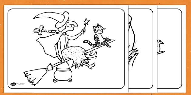 Twinkl Farm Animal Colouring Pages : Room on the broom activities and games primary page 1