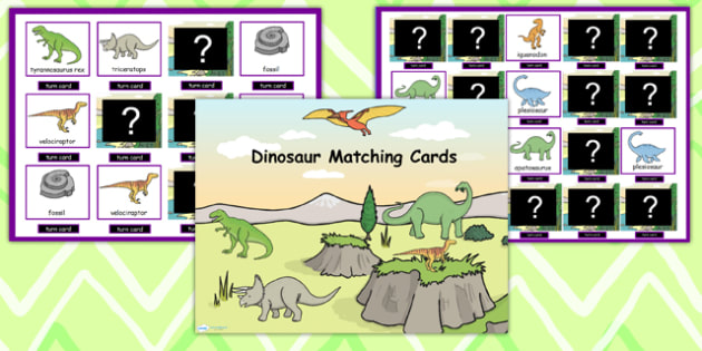Dinosaur Themed Matching Cards Activity Flipchart - dinosaurs