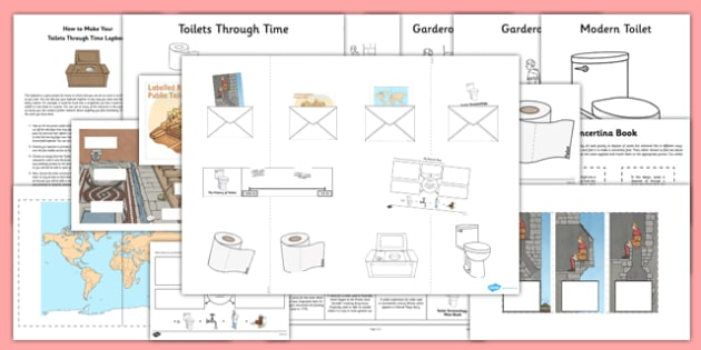 Toilets Through Time Lapbook Creation Pack - toilets, toilets through time, lapbook, creation pack