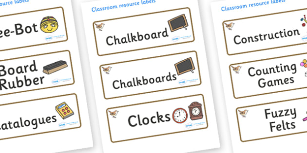 Wren Themed Editable Additional Classroom Resource Labels - Themed Label template, Resource Label, Name Labels, Editable Labels, Drawer Labels, KS1 Labels, Foundation Labels, Foundation Stage Labels, Teaching Labels, Resource Labels, Tray Labels, Pri