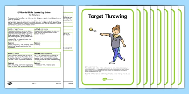 EYFS Multi Skills Sports Day Guide and Activity Planner