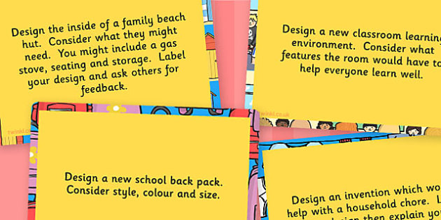 UKS2 Design Technology Challenge Cards - Design, Technology