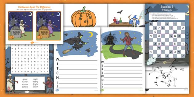 Halloween Activity Pack - halloween, activity pack, halloween pack, halloween activities, halloween activity, activities, halloween activities pack