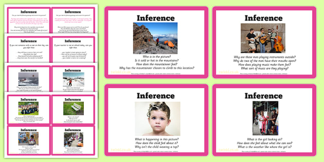 Guided Reading Skills Task Cards Inference - guided reading