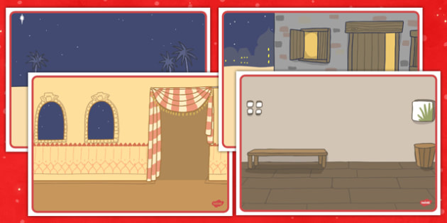Christmas Story Scenery Cards - christmas, story, scenery, cards, background